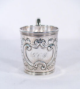 Antique Coin Silver Cup C 1868