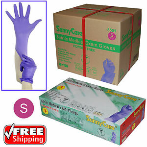 Sunnycare 3 5mil Nitrile Powder free Medical Exam Gloves latex Vinyl Free S