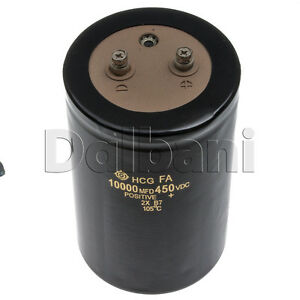 Pulled 2 Screw Terminal Capacitor 450v 10000uf 90mm Dia 140mm Height