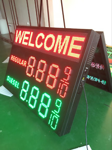 Led Gas Price Sign 44 X 62 And Led Message Board Combo Financing Available