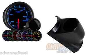 99 02 Ford Super Duty Glowshift Tinted 7color Psi Oil Pressure Gauge