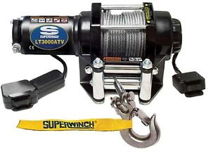 Superwinch 1130220 Lt3000 Atv Series 3 16 x50 12 Volt Winch W 3000 Lb Capacity