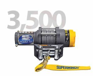 Superwinch 1135220 Terra 35 13 64 x50 12 Volt Winch W 3500 Lb Capacity