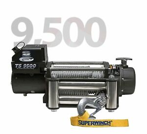 Superwinch 1595200 Tiger Shark 21 64 x95 12 Volt Winch W 9500 Lb Capacity