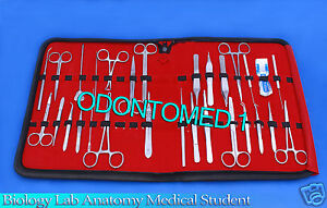 35 Pc Biology Lab Anatomy Medical Student Dissecting Kit With Scalpel Blades 11