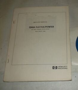 Hewlett Packard 7245a Plotter printer Service Manual 07245 90000