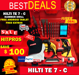 Hilti Te 7 c Mint Condition Free Tablet Bits A Lot Of Extra Fast Shipping