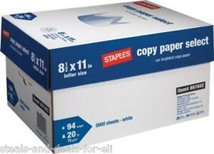 Bluffton sc local Pickup Only staples Case Printer Multipurpose Paper 10 Reams