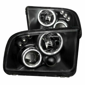 Anzo 121166 Set Of 2 Black Ccfl Halo Projector Headlights For 05 09 Ford Mustang