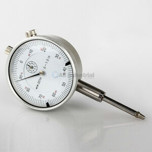 1 Dial Indicator 0 001 Graduation 0 100 Reading Lug Back White Face
