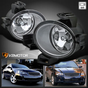 For 05 06 Nissan Altima Jdm Clear Front Bumper Fog Lights Lamps switch