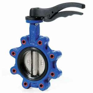 Cast Iron Lugged Tapped Butterfly Valve Epdm Seat stainless Disc 1 To 16