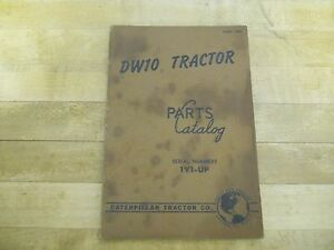 Caterpillar Dw10 Tractor Parts Catalog