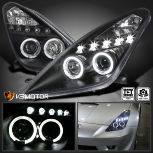 For 2000 2005 Toyota Celica Led Halo Projector Headlights Jdm Black Left Right