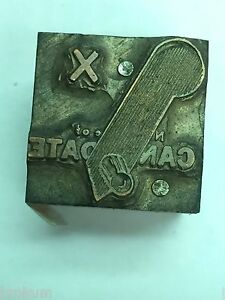 Candidate Voting Poll Lever Political Printer s Letterpress Type Block