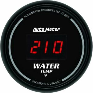 Auto Meter Sport comp Digital Series Gauge Water Temperature 2 1 16 Dia 6337