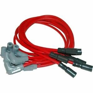 Msd Spark Plug Wires Spiral Core 8 5mm Red 90 Deg Boots Chevy Gmc 5 7l Set 32169