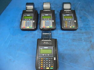 Lot Of 4 Hypercom Model T7plus Credit Card Machines Readers as Is