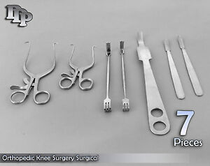 Set Of 7 Pieces Orthopedic Knee Surgery Surgical Instruments Ds 934