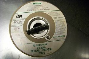 New 50214683 Greenlee Polypro General Purpose Rope 3 16 X 600