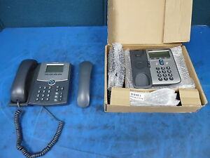 Lot Of 2 Cisco Systems Ip Phones 1 mn Spa504g No P s 1 mn 7912 Series