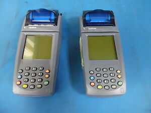 Lot Of 2 Verifone Nurit 8020 Card Reader Terminal units Only No P s
