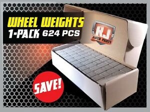 1 Box Wheel Weights 1 4 Oz Stick On Adhesive Tape 156 Oz 624 Pieces $24.95
