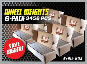 6 9 LBS BOXES 3456 PIECES STICK ON ADHESIVE TAPE 1 4 OZ WHEEL WEIGHTS $119.95