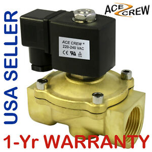 Viton 1 Inch 220v 240v Ac Brass Solenoid Valve Npt Gas Water Air Normally Closed