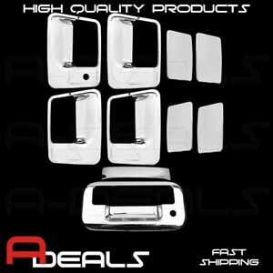 For Ford Super Duty F250 350 450 2008 2016 Chrome Door Handle Tailgate Cover