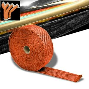 Orange 2 X 1 16x 10m 404 T1 Exhaust Header Turbo Manifold Downpipe Heat Wrap