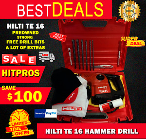 Hilti Te 16 Preowned Original Strong Durable Free Drill Bits Fast Ship
