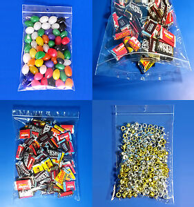 Clear Glossy Polypropylene Ziplock 2 mil Hanghole Display Jewelry Fda Candy Bags