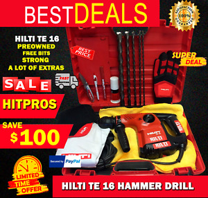 Hilti Te 16 Preowned Strong Free Bits Hilti Extrs Fast Shipping