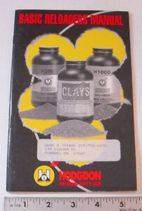 HODGDON RELOADING MANUAL - PAGES: 40