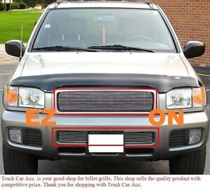 For Nissan Pathfinder Se 1999 2000 2001 2pc Polish Grille Combo Without Logo