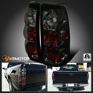 For 1999 2002 Chevy Silverado Sierra 1500 2500 3500 Smoke Tail Lights Left right