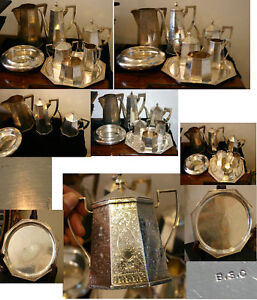 8 Pc Sterling Silver Rare Tea Set W Tray 168 Ounces By Bixby Silver Co C 1896