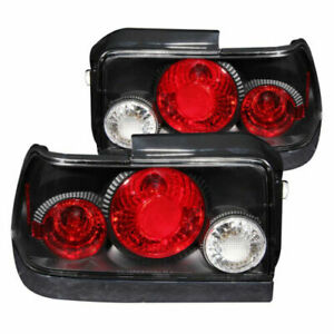 Anzo 221113 Set Of 2 Black Tail Lights For 1993 1997 Toyota Corolla