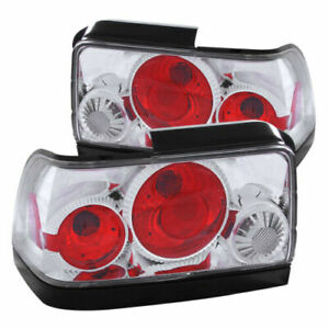 Anzo 221111 Chrome Clear Halogen Bulb Tail Lights Fit For 93 97 Toyota Corolla