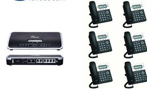 Brand New Voip Small Business Pbx W 6 Sip Phone Sets Telephone System
