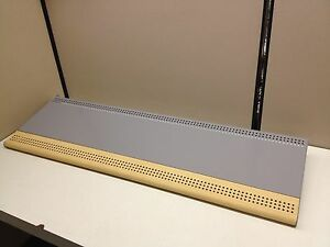 New Lot Of 4 36 X 14 Gondola Shelfs W Woodgrain Bullnose