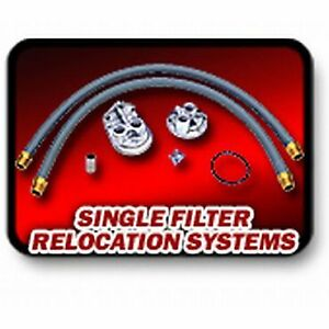 Transdapt Oil Filter Relocation Kit New For Chevy S10 Pickup S15 H