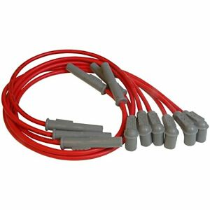 Msd Spark Plug Wires Spiral Core 8 5mm Red Buick Chevy Olds Pontiac 3 1 3 4l Set
