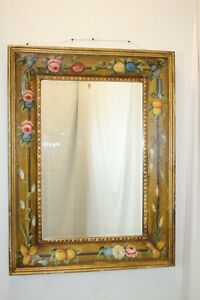 Venetian Style Italian Wall Mirror With Exceptional Art Hand Paint Design