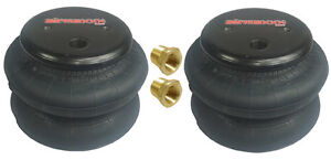 Two New Standard 2600 Air Bags 3 8 Npt Port Ride Springs Bag Suspension Fbss