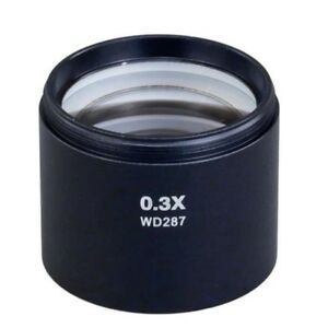 New 0 3x Auxiliary Objective Lens D48mm For Stereo Microscope