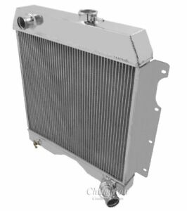 1954 1965 Willys Pickup Truck wagon Aluminum 3 Row Champion Radiator