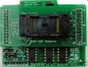 Adp 042 Tsop48 16 Bit Zif Adapter For Willem Programmer