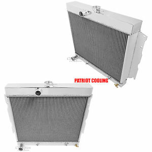 1965 1966 Plymouth Valiant Signet V8 Only Aluminum 2 Row Champion Radiator